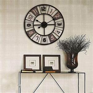 Vintage Wanduhr Groß Holz Metall : wanduhr gro vintage ct tribe 24zoll 60cm metall lautlos vintage wanduhr uhr wall clock ohne ~ Bigdaddyawards.com Haus und Dekorationen