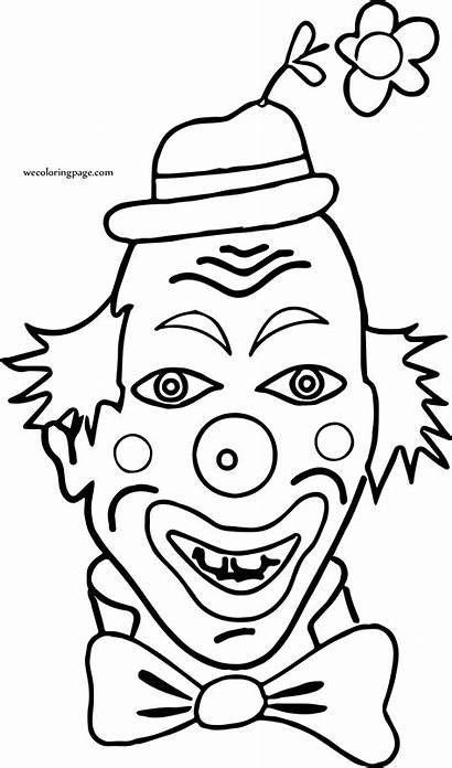 Coloring Funny Clown Pages Wecoloringpage