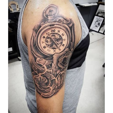 street city tattoos custom time  money piece   cool custom