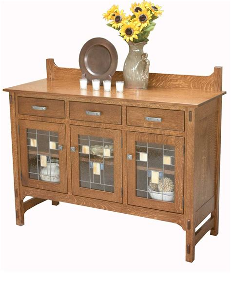 Glass Front Buffet Sideboard by Glenwood Sideboard Glass Front Amish Direct Furniture