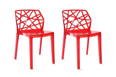 chaises transparentes fly une déco de noël design miliboo
