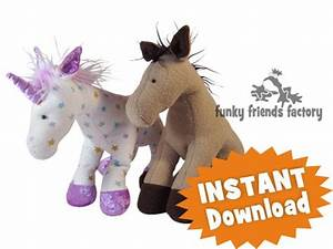 Horsey Horse & Unicorn INSTANT DOWNLOAD Sewing Pattern PDF