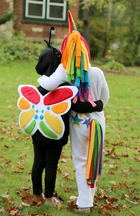 Rainbow Unicorn And Rainbow Butterfly Costumes The Cottage