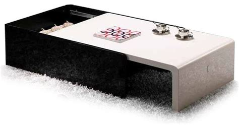 Modern Black And White Lacquered Coffee Table With Storage