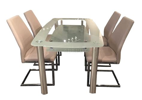 glass desk metal legs cafe408 441408 dining table w glass top metal legs by