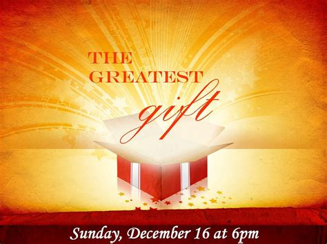 the greatest gift christmas musical