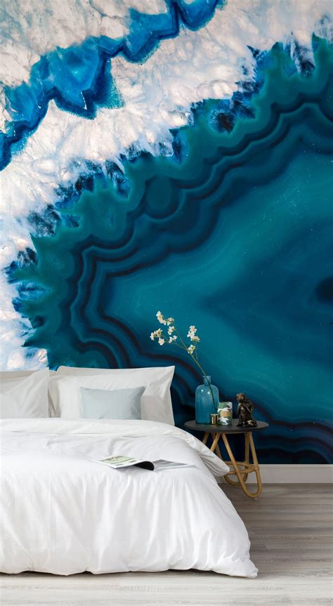 agate mineral crystal wall mural huis interieur design