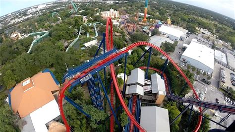 Sheikra Roller Coaster Busch Gardens Tampa Florida Front