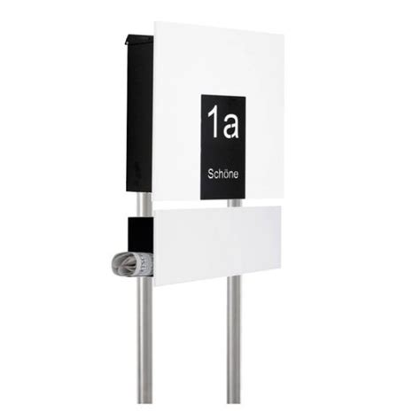 standbriefkasten mit hausnummer knobloch design standbriefkasten mit hausnummer zeil smartes wohnen