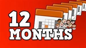 12 Months  Uff0812 U30f6 U6708 Uff09