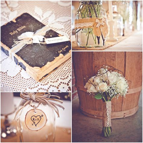 country wedding ideas with burlap burlap inspired country wedding trudie robbie rustic