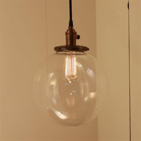 pendant lighting ideas modern design large glass globe