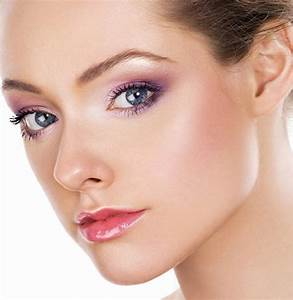 Lila Augen Make Up Blaue Augen Schminken Schminkanleitung