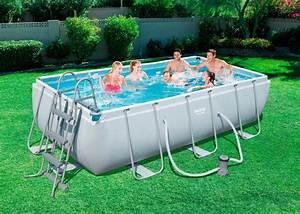 bestway set frame pool quotpower steelquot 404x201x100 cm With französischer balkon mit garten pool bestway