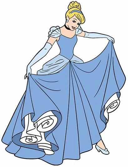 Cinderella Clipart Disney Clip Slipper Gown Ball