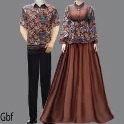 gamis baju gamis batik sarimbit coklat