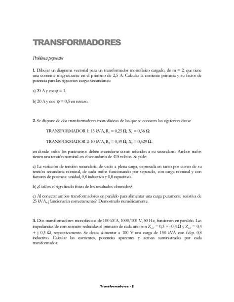problemas resueltos transformadores