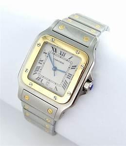 Cartier Santos Galbee Herren Uhr StahlGold Datum Ref