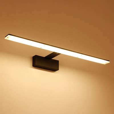 Linear Bathroom Lighting by Contemporary Lighting 1 Light Black White Led Linear