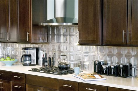 Metal Wall Tiles Kitchen Backsplash by Metallaire Small Panels Backsplash Metallaire Collection