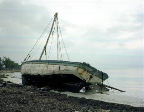 Refugee Boat Lands On Spanish Beach by Florida Memory Haitian Refugee Boat That Washed Up To