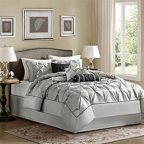 buy madison park laurel 7 piece king comforter set in grey