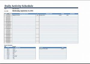 daily activity schedule form at worddoxorg microsoft With daily activity schedule template