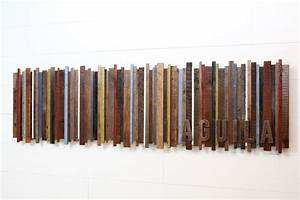 Hand made reclaimed wood wall art by