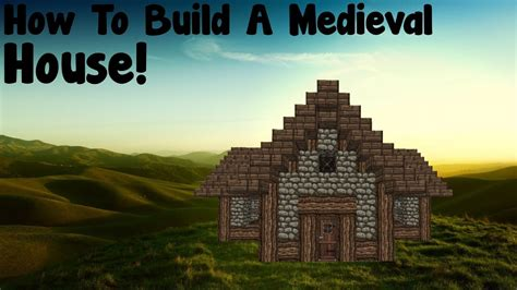 minecraft tutorial   build  medieval house youtube