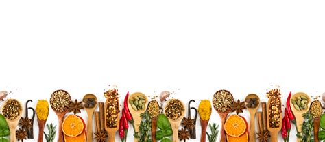 Different Spices Seasonings And Herbs Isolated On White ...