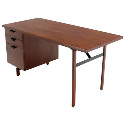 mid century desk with drawers mid century danish modern oiled walnut desk file drawer at