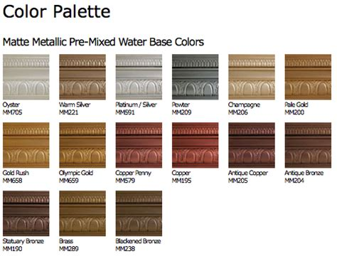 metallic paint collection modern masters cafe