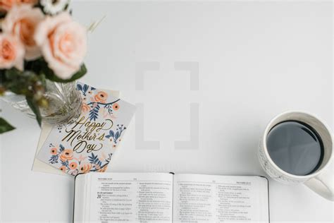 An Open Bible Mothers Day Card Coffee Cup — Photo