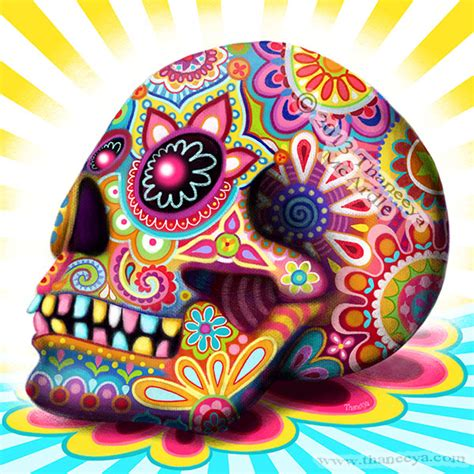 colorful sugar skull day of the dead a gallery of colorful skull