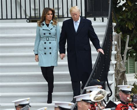 Melania Trump wears blue dress to meet Panama's president   Daily Mail Online