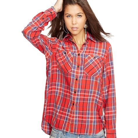 denim supply by ralph plaid twill utility shirt and plaid flannel shirt