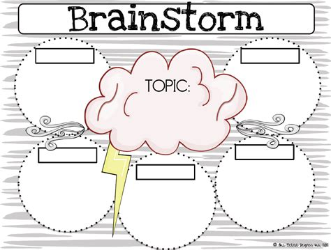 one degree brainstorming graphic organizer writing