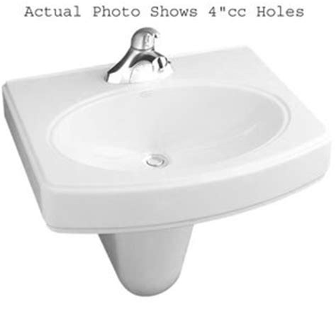 kohler wall hung sink k2035 1 0 pinoir wall hung bathroom sink white at shop