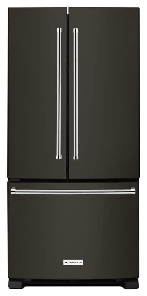 KitchenAid Black Stainless French Refrigerator KRFF302EBS