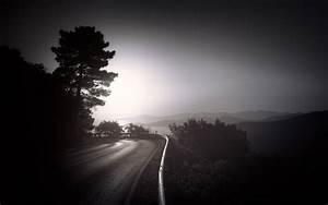 Wallpaper, Sunlight, Trees, Landscape, Mountains, Dark, Night, Lake, Nature, Sky, Road