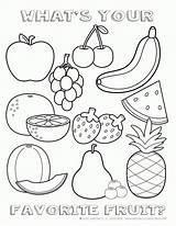 Coloring Salad Fruit sketch template