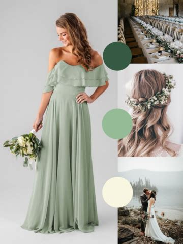 sage green bridesmaids dresses  love wedding