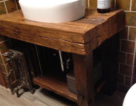 hand crafted rustic bath vanity reclaimed barnwood