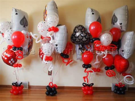Casino Theme Bouquets  Seattle Balloon Decorations