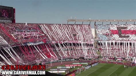 recibimiento superclasico river  boca  monumental