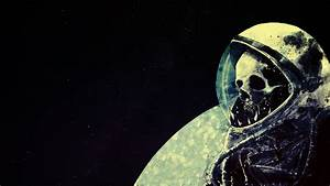 #astronaut, #space, #skull, #death, #space art, #artwork ...