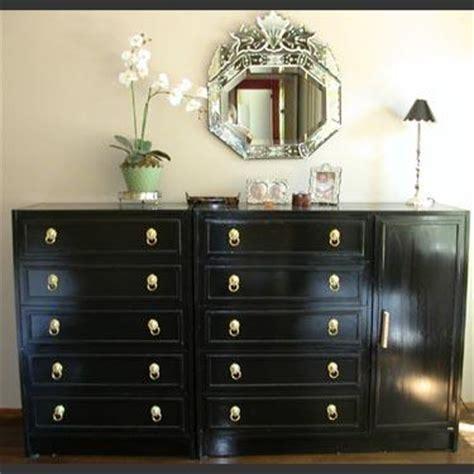 painting furniture black repainted black dresser