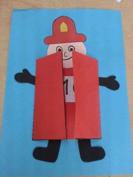 fire safety crafts  ideas  preschoolers