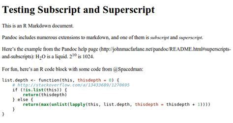 Producing subscripts in R markdown - Stack Overflow