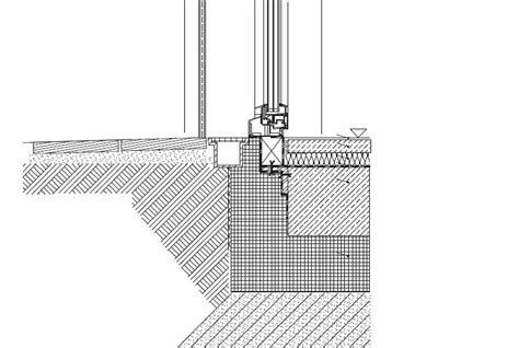 Schwellenlose Terrassentur Detail Deutsche Bauzeitschrift